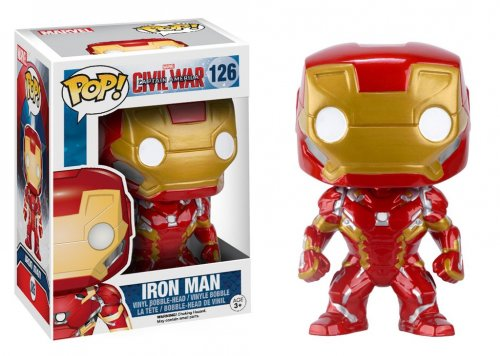 Funko POP! Bobble: Marvel: Гражданская война: Железный Человек (POP! Bobble: Marvel: Captain America CW: Iron Man)