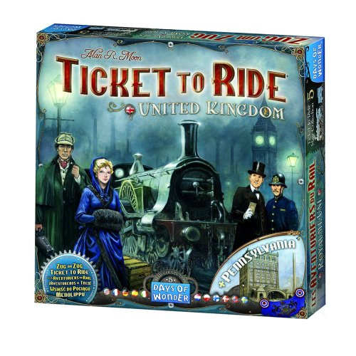 Настольная игра - Ticket to Ride: United Kingdom Map Collection (Билет на поезд. Объединённые королевства) (дополнение) ENG